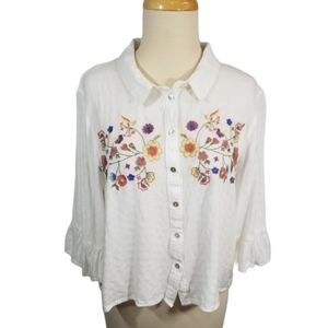 {Coco + Jamieson} Embroidered Blouse